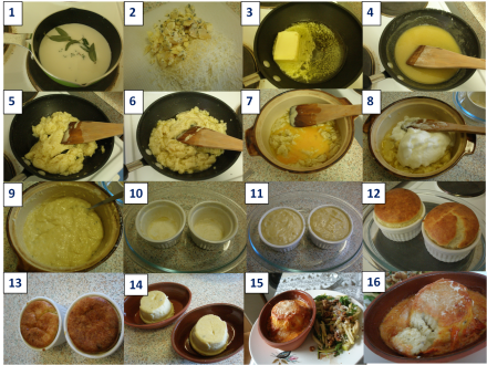 Blue cheese soufflé method