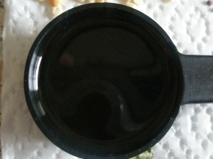 A generous tablespoon of vegetable (canola) oil