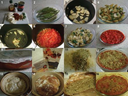 Method for asparagus-potato bake