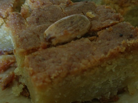 Semolina cake with rosewater syrup