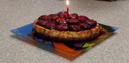Transformed into a birthday cake