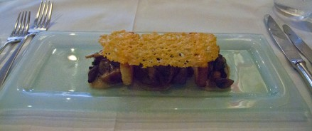Starter : Mushroom and brioche with parmesan crisp